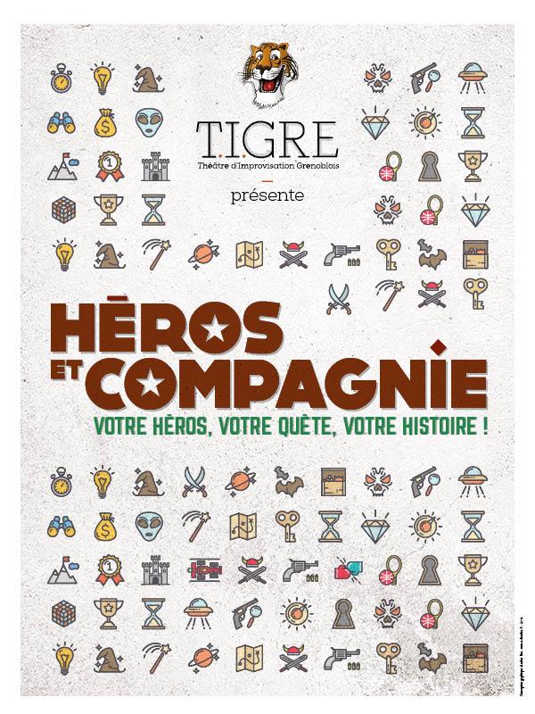 """Les TIGREs présentent leur spectacle d'improvisation""""Héro&Cie"""""""