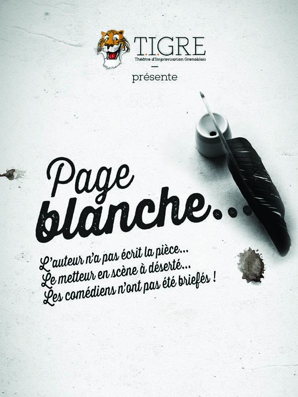 """Les TIGREs présentent leur spectacle d'improvisation """"Page Blanche"""""""