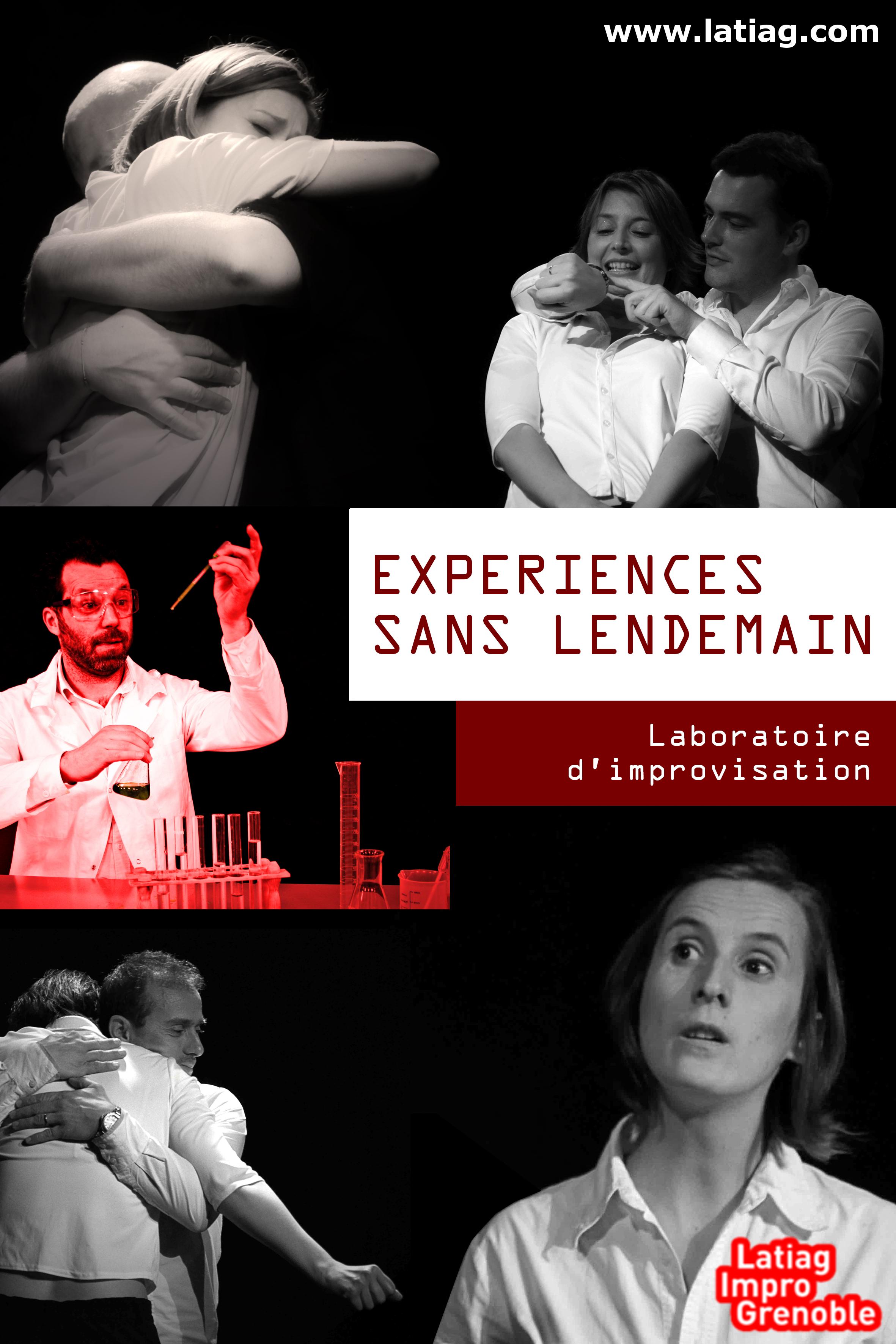 """Spectacle d'improvisation """"Expériences sans lendemain"""" par Latiag"""