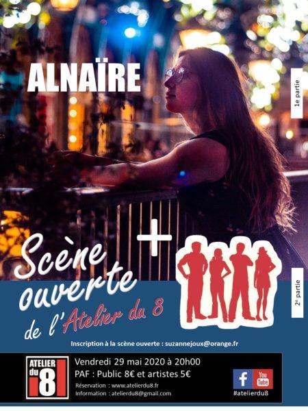 ALNAïRE en concert  +  Scène ouverte de l'Atelier du 8