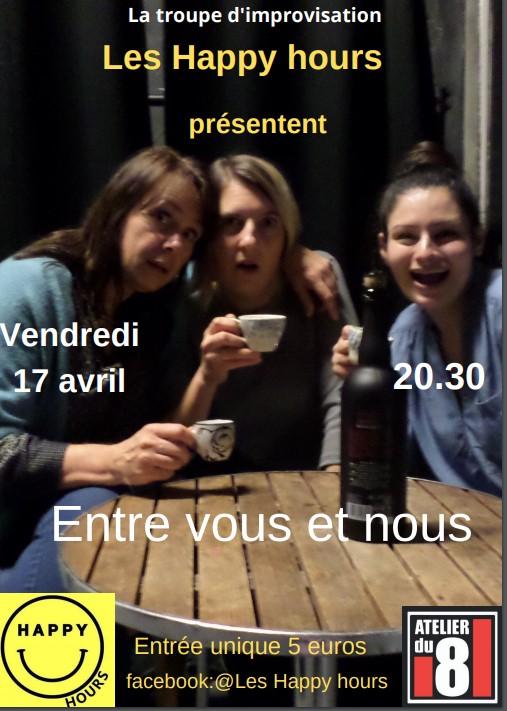 """""""Entre vous et nous"""" par Les Happys hours"""